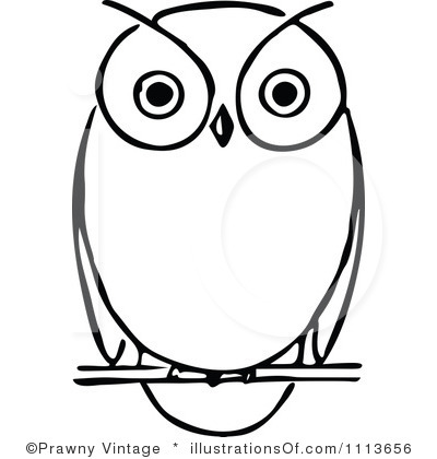 Free Owl Clipart Black And White