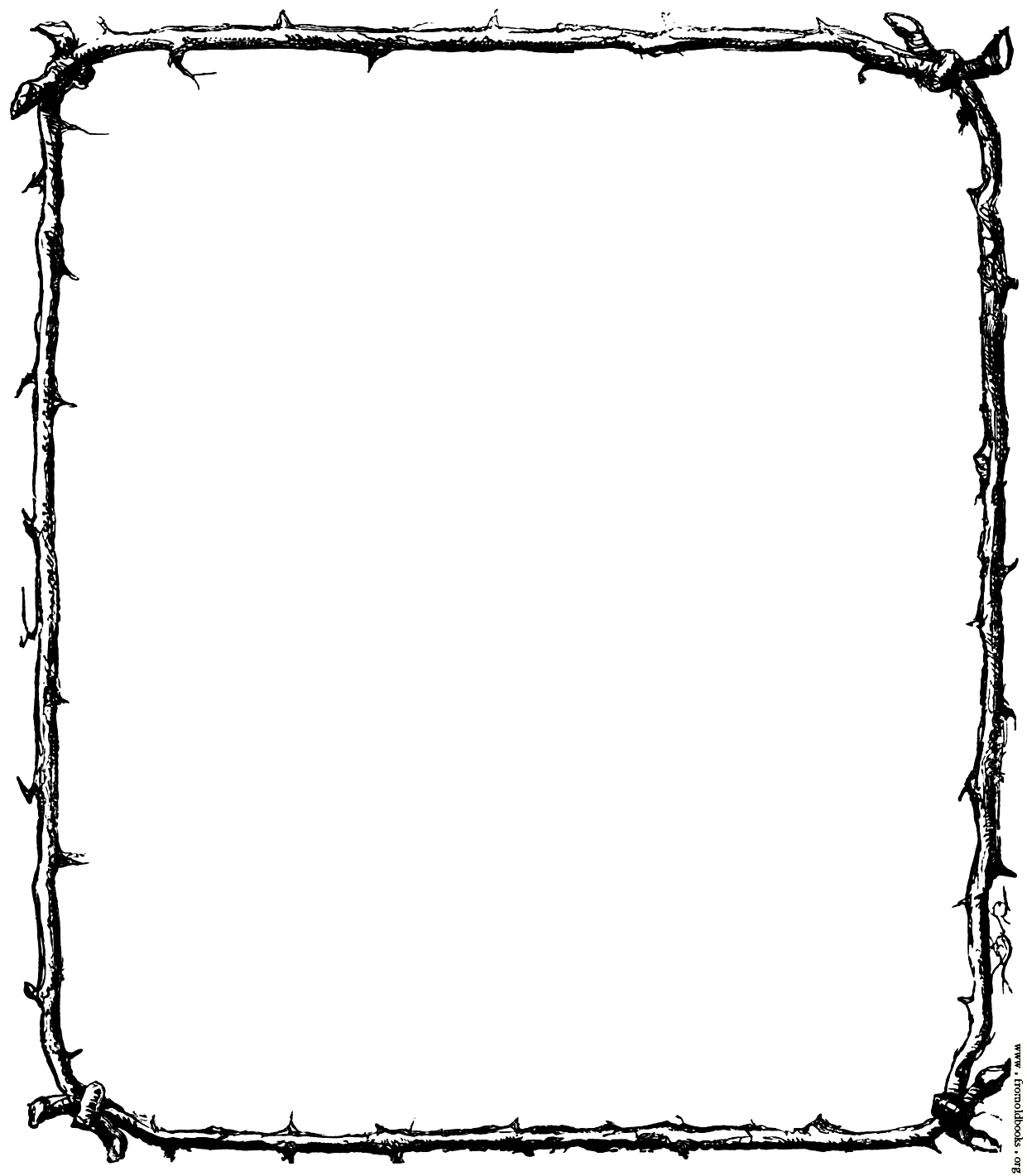 1241x1421 Free Medieval Page Border Clipart