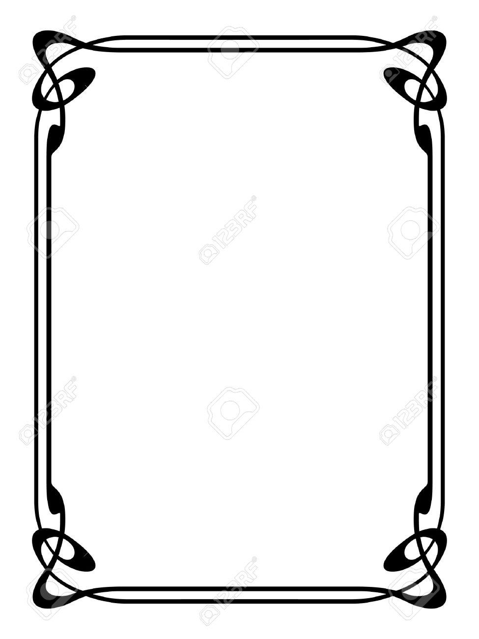975x1300 Art Deco Frame Art Nouveau Modern Ornamental Decorative Frame