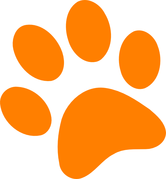 552x596 Dog Paw Print Clip Art Free Clipart Image
