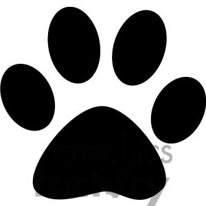 300x300 Paw Print Background Clipart