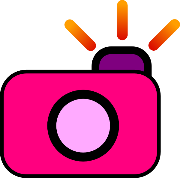 600x594 Photography Clipart Pink Camera