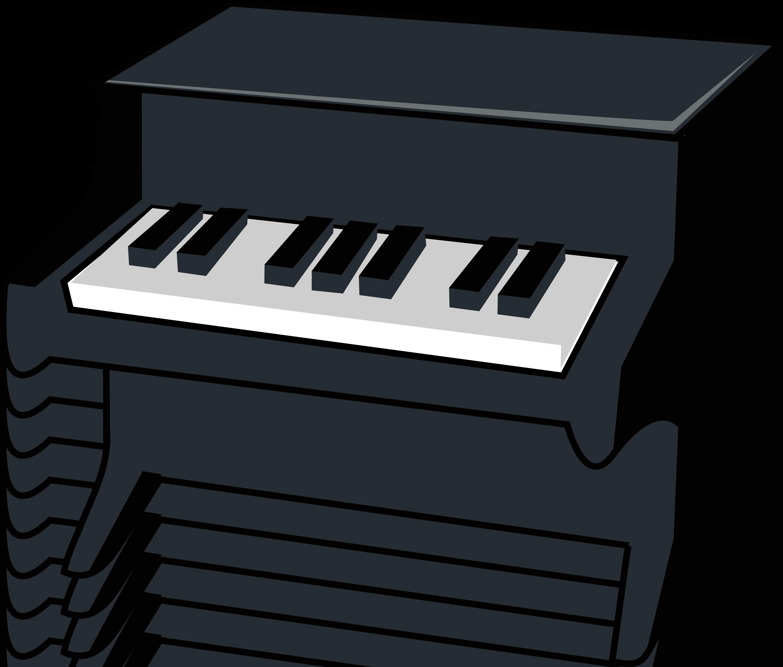 5047x4297 Miniature Piano Vector Illustration