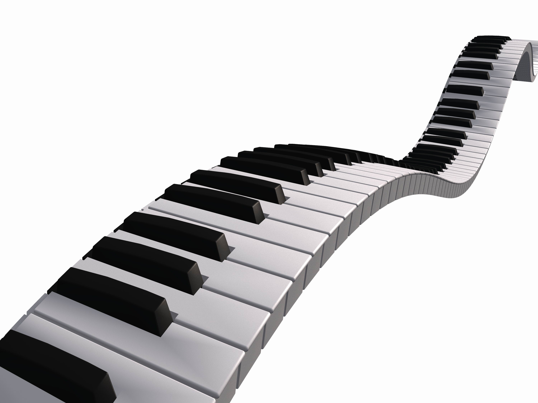 3000x2250 Free Piano Keyboard Clipart Image
