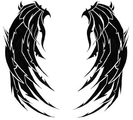 425x384 Angel Wings Picture Image Free Tattoo Design Tattoo From Itattooz