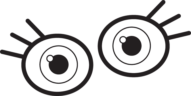 664x334 Eyes Eye Clip Art For Kids Free Clipart Images