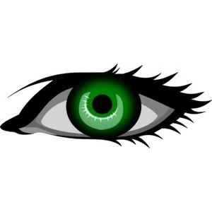 300x300 Green Eyes Clipart