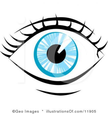 424x445 Hazel Eyes Clipart Sight