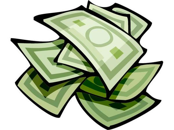 600x450 Buck Clipart Stack Money