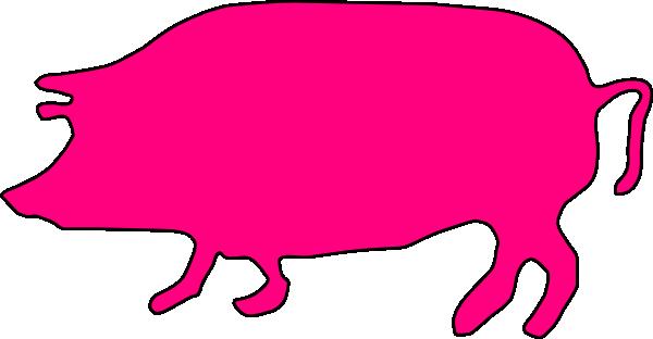 600x312 Pink Pig Clip Art