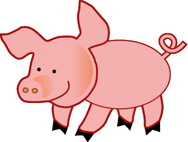 600x455 Small Pig Clip Art