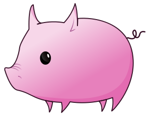 304x243 Free Pig Clipart