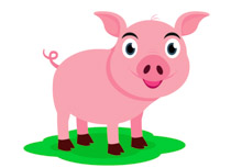 210x153 Free Pig Clipart