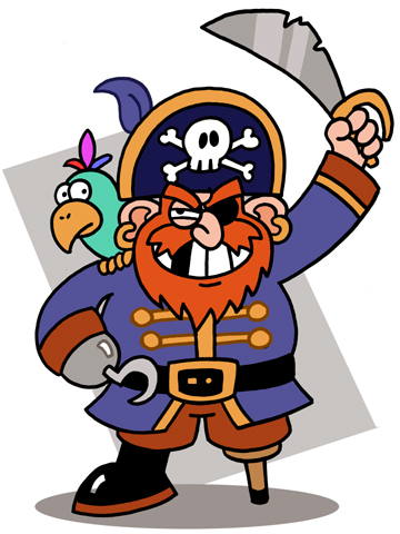 360x480 Free Pirate Clipart