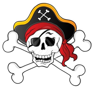 400x377 Pirate Skull And Crossbones Clip Art Many Interesting Cliparts