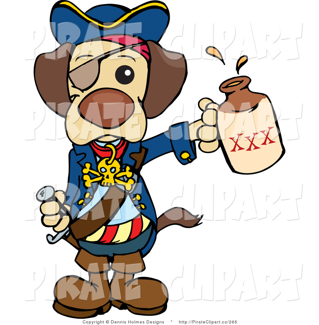 1024x1044 Vector Clip Art Of A Cute Brown Pirate Dog Wearing An Eye Patch