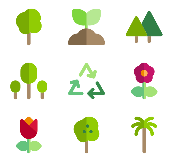600x564 Plant Icons
