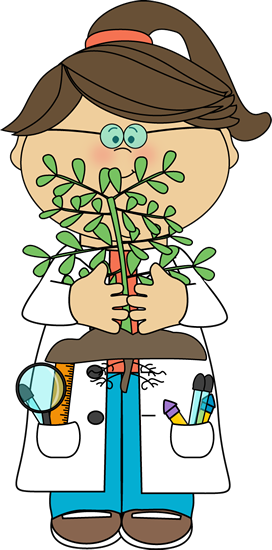 272x550 Scientist With A Plant Clip Art
