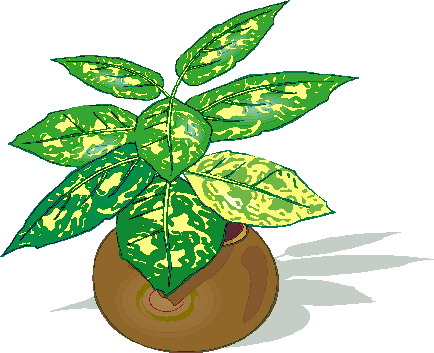 434x353 Clip Art Of Plants