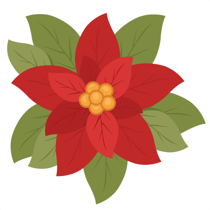 432x432 Christmas Poinsettia Flower Scrapbook Clip Art Christmas Cut Outs