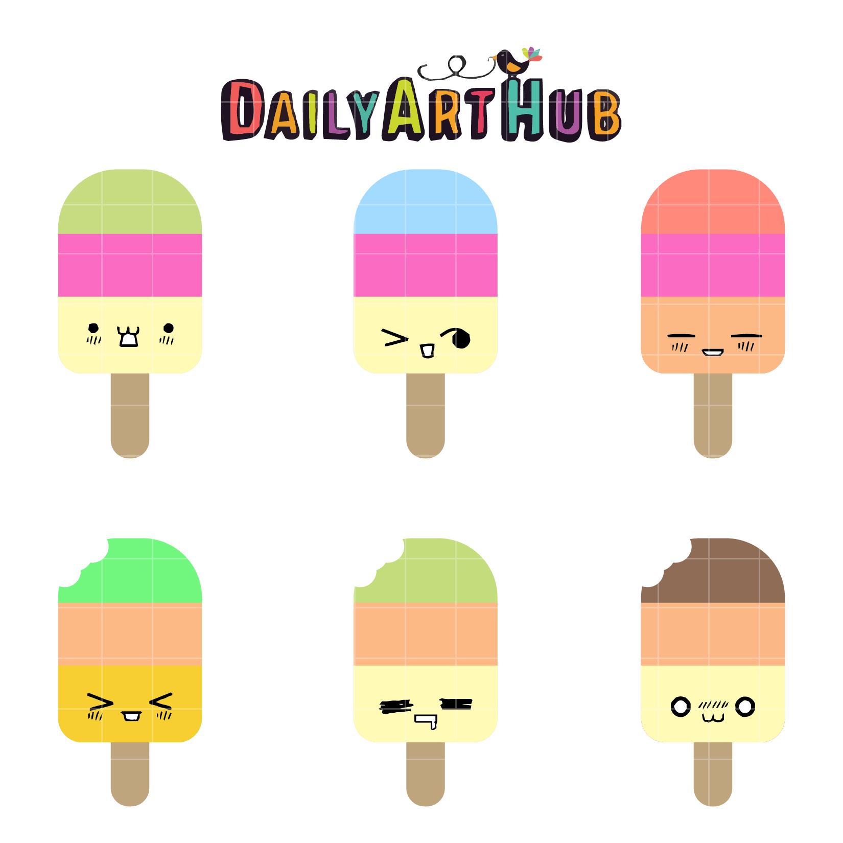 1650x1650 Cute Popsicles Clip Art Set Daily Art Hub