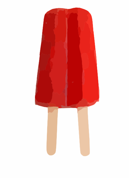 432x595 Red Double Popsicle Clip Art