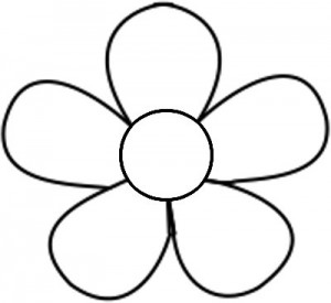 Drawings of flowers template. Free printable flower templates