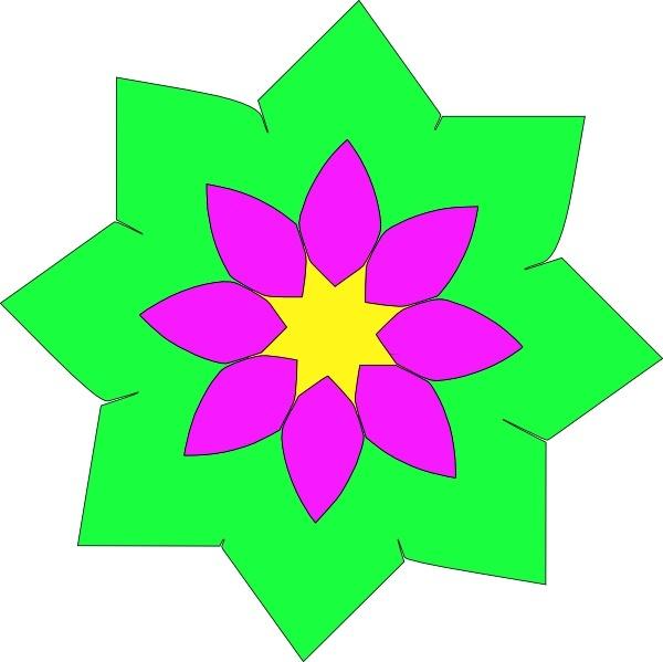 600x599 Shapes Clipart Flower