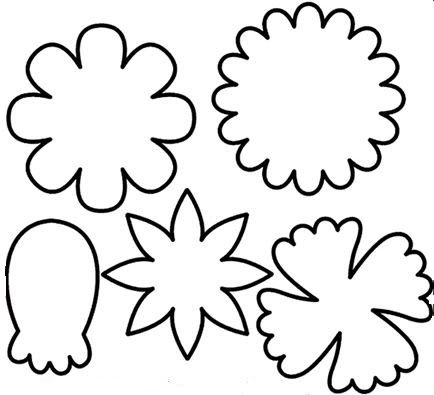 picture relating to Printable Flowers Templates titled Absolutely free Printable Flower Templates Clipart No cost down load easiest