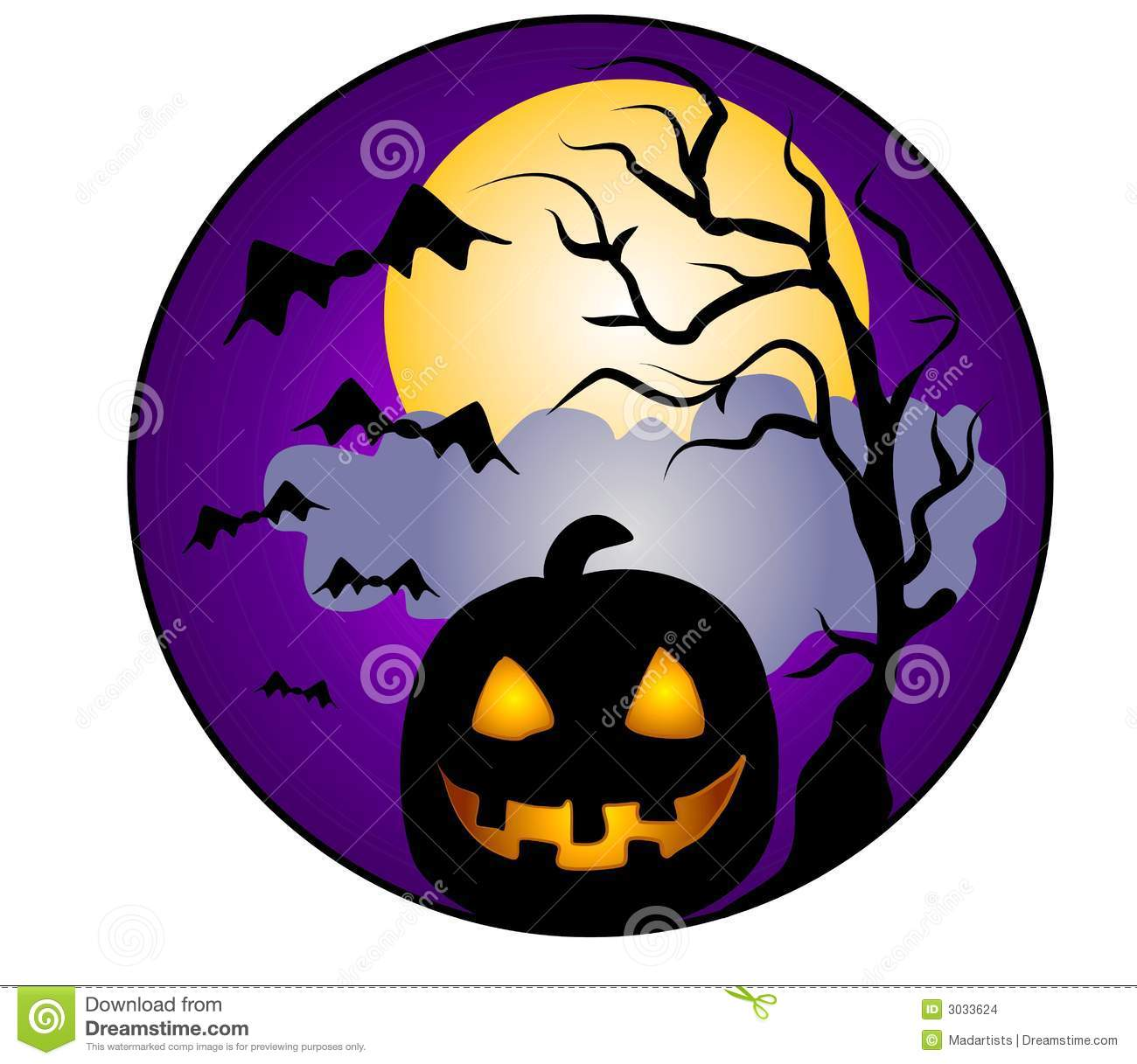 1300x1217 A Clip Art Illustration Of A Halloween Scene Featuring