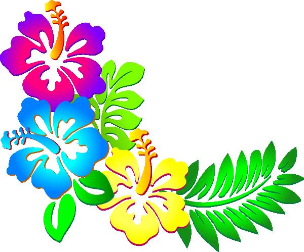 600x499 Flower Border Luau Flowers Clip Art Borders Free Clipart Image