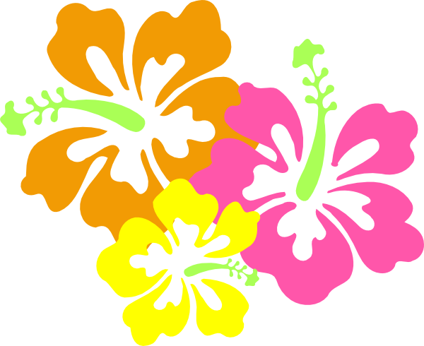600x490 Hawaiian Flower Luau Clip Art Borders Free Clipart Images