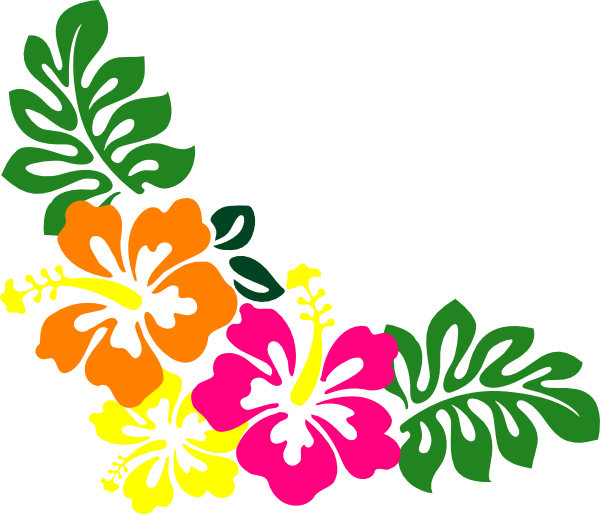 600x514 Hibiscus Clipart Border Free Printable Hawaiian Borders Best