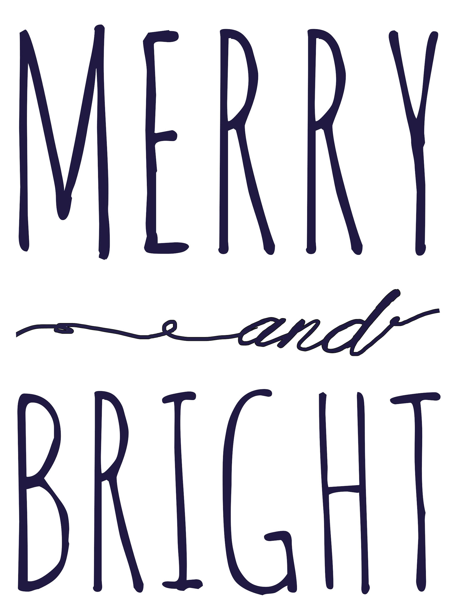 1584x2112 Merry And Bright Free Printable Template Fantastically Free