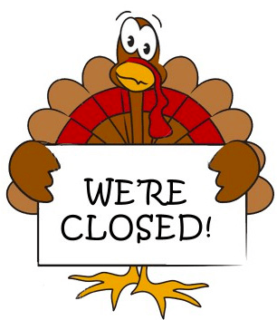 Effortless image inside closed for thanksgiving sign printable