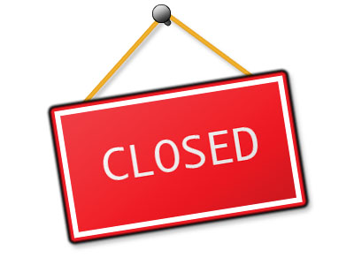 400x300 Office Closed Signs