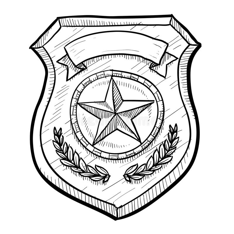 800x800 Image Police Badge Drawing