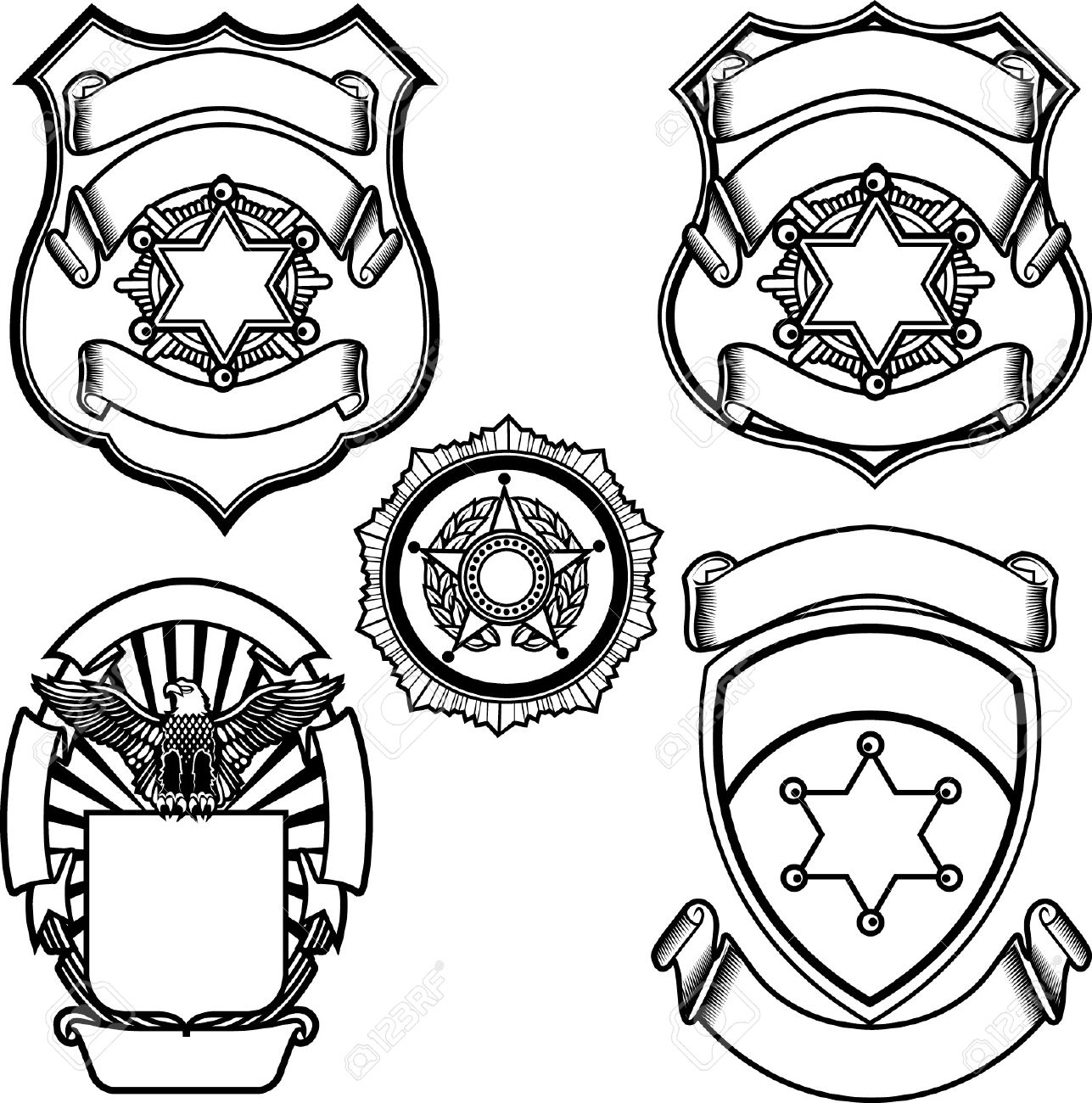 image relating to Printable Police Badges known as Absolutely free Printable Law enforcement Badge Template Absolutely free down load easiest