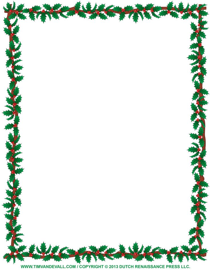 736x952 Christmas Clipart Borders Free Printable Fun For Christmas
