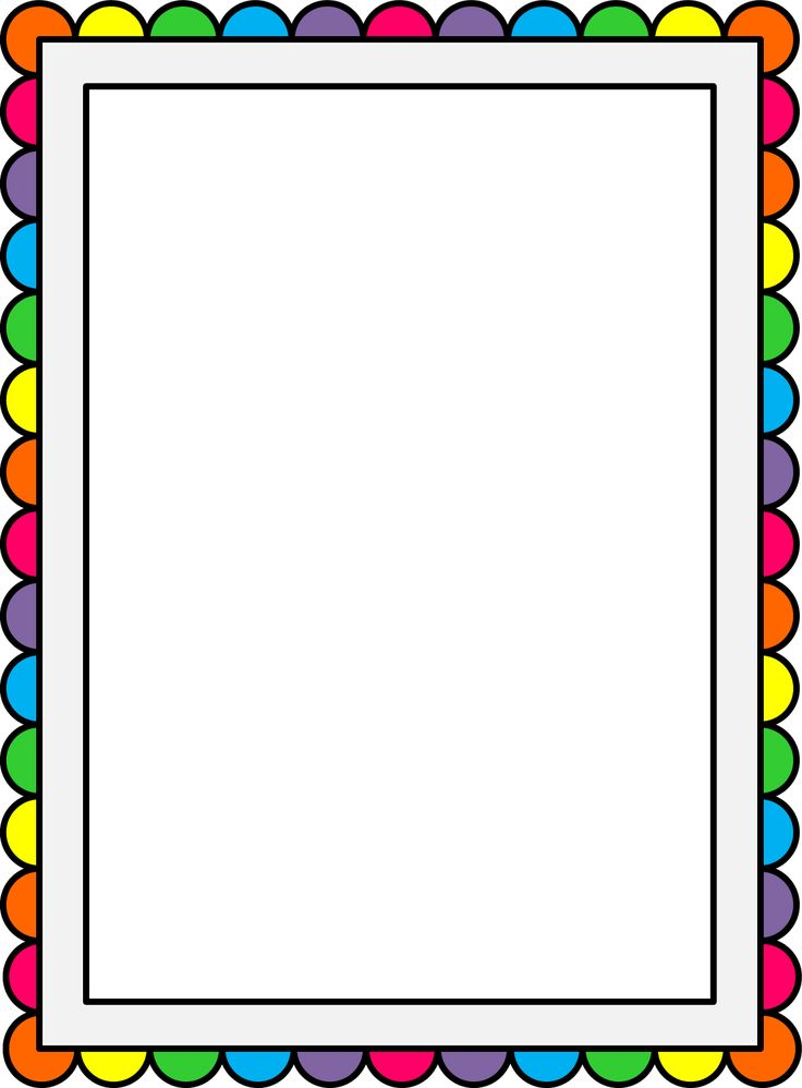 736x998 And Comb Frames Borders Printable Clipart