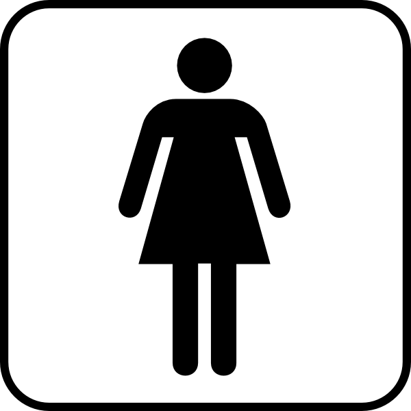 600x600 Ladies Room Clip Art