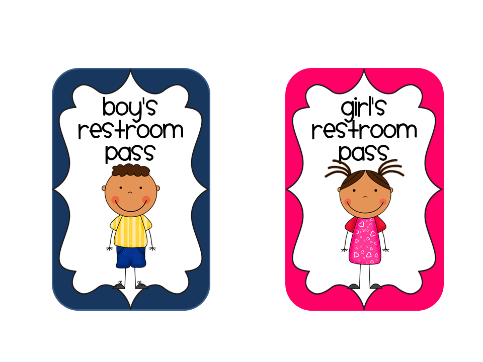 960x720 Bathroom Pass Printable
