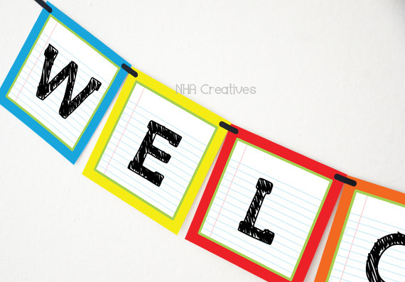 570x397 Welcome Back To School Banner School Supplies Diy