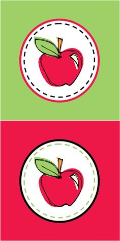 236x472 Free Printable Polka Dot Apple Welcome Back To School