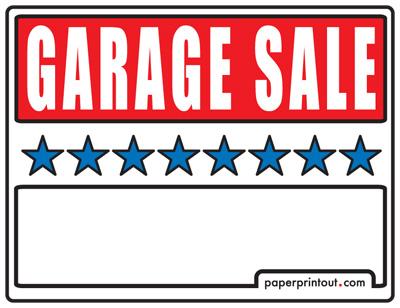 400x308 Garage Sale Signs