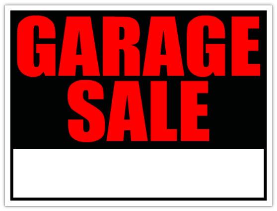 558x424 Garage Sale Sign Template