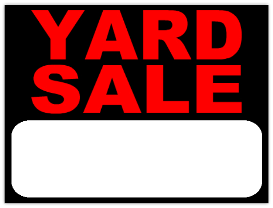 558x424 Yard Sale Sign Template