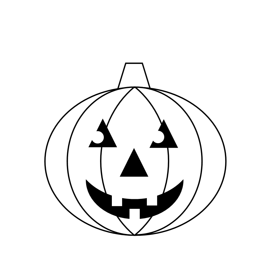 865x865 Pumpkin Black And White Pumpkin Clipart Black And White 0