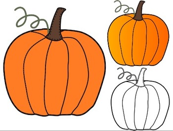 Thanksgiving With Pumpkin amp Leaves Clip Art at Clkercom