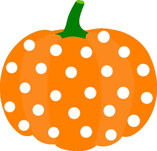 600x577 Polka Dot Pumpkin Clipart
